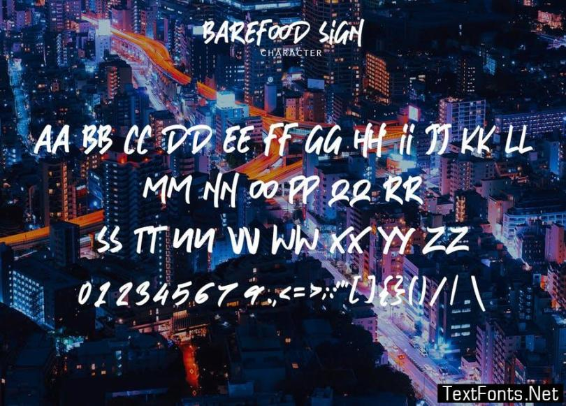 Barefood Sign | Font Combination