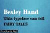 Besley Hand Font