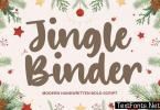 Jingle Binder Brush Font YH