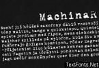MachinaR Font