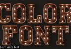 Marquee Lights - 3D Color SVG Font