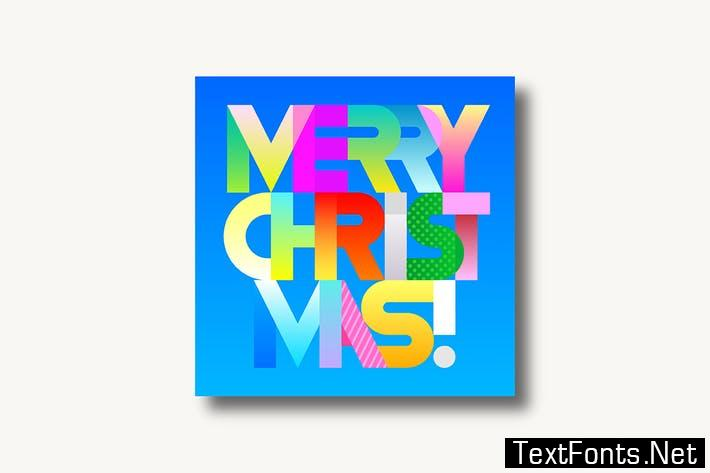 Merry Christmas decorative text (two options) 835439