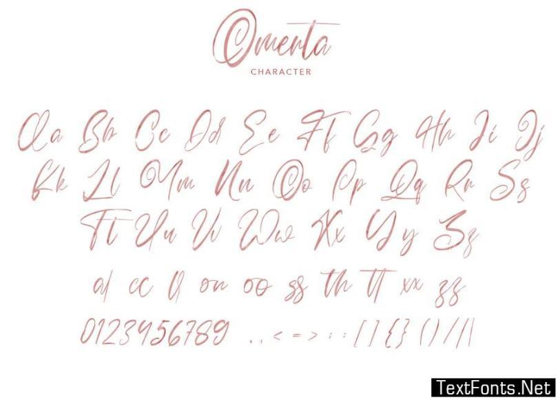 Omerta   Classy SVG Font