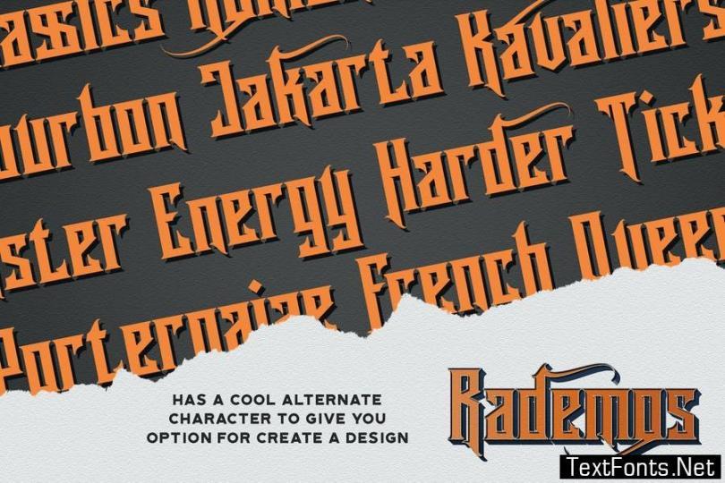 Rademos - Blackletter Font