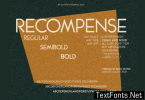 Recompense Font