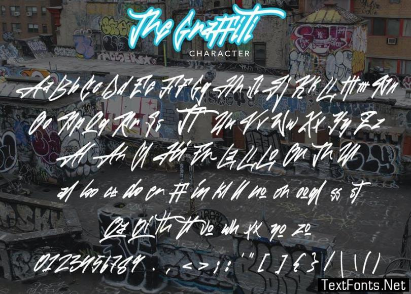 The Graffiti Font | Free Text Effect