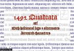 1492 Quandrata Font