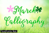 March Calligraphy Font