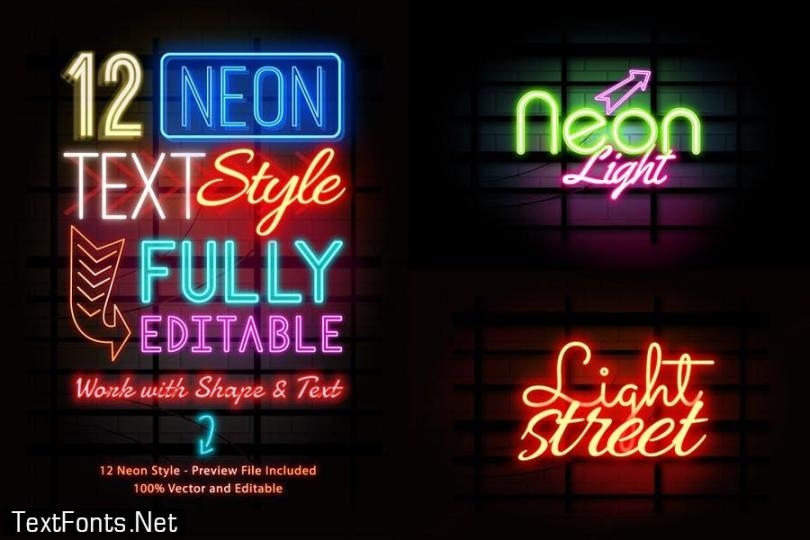 Neon Text Effects Vol.02 WQJV38G