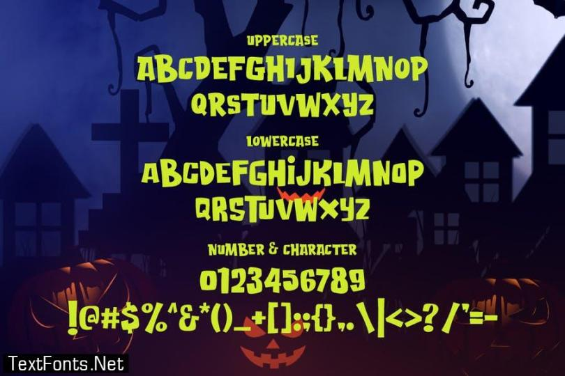 Attack of Monster - Horror Gaming font