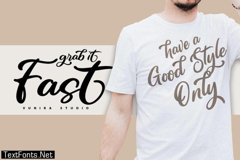 Awugh | A Digistyle Handwriting Script Font