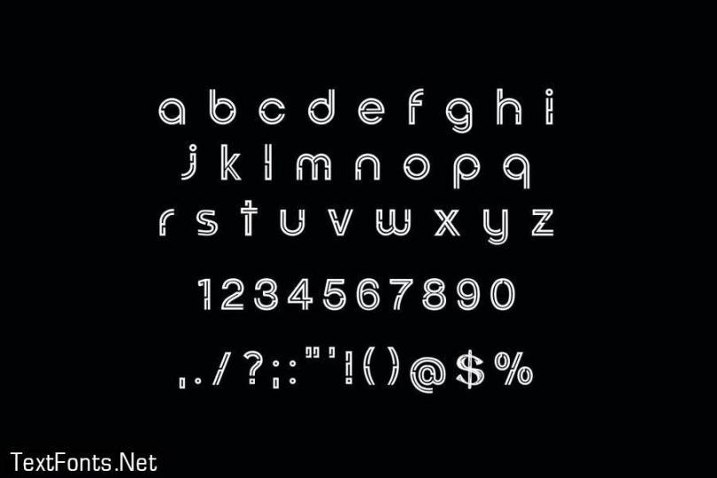 Binovomid Sans Serif Font