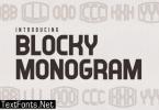 Blocky Monogram Font