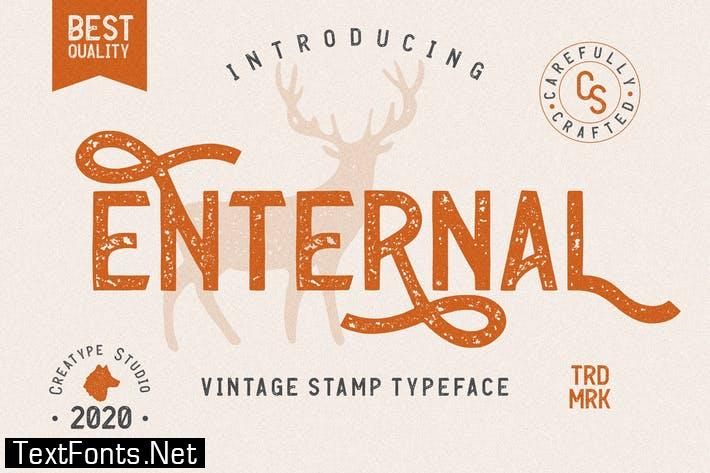 Enternal Vintage Stamp Typeface