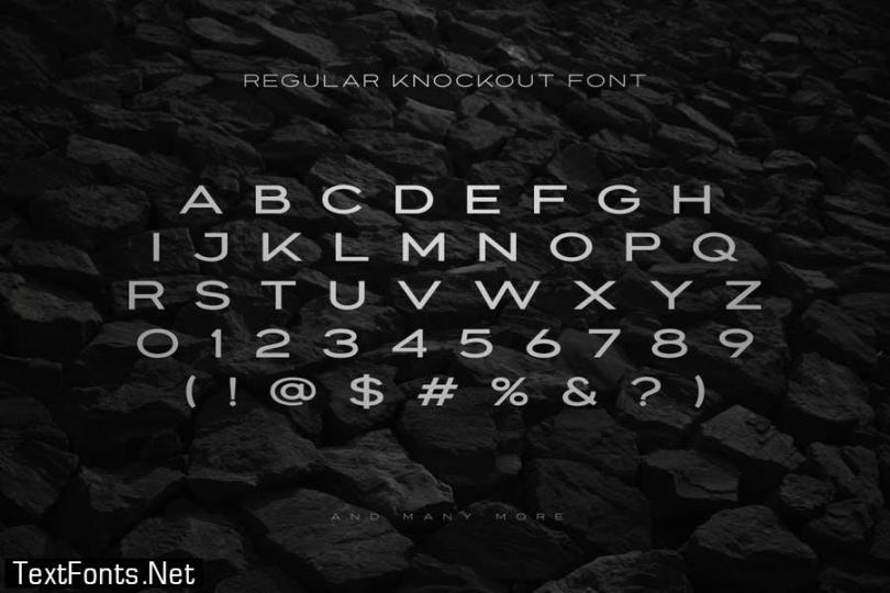 Knockout - Extended Font Family
