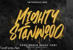 MightyStanwood - Urban Brush Font