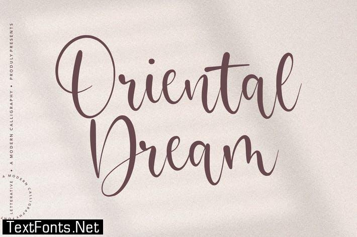 Oriental Dream Script Font YH