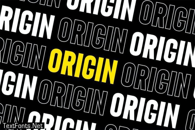 Origin - Bold Retro Sans Serif