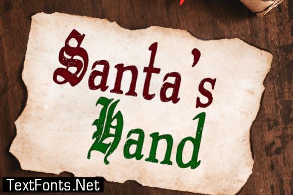 Santa's Hand Font