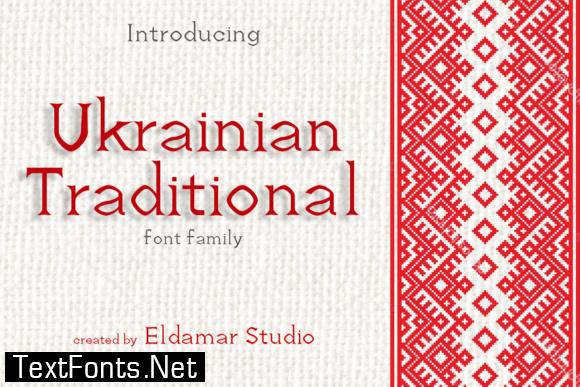 Ukrainian Traditional Font