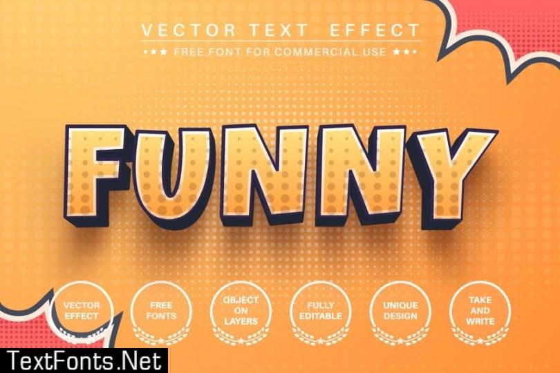 3D comic - editable text effect, font style P3WEYFE