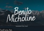 Benito Micholine Brush Handwritten Font