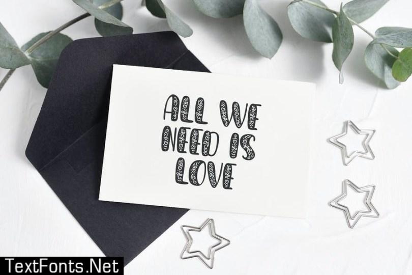 Big Love Hand Drawn Font