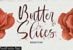 Butter Slices - Brush Font