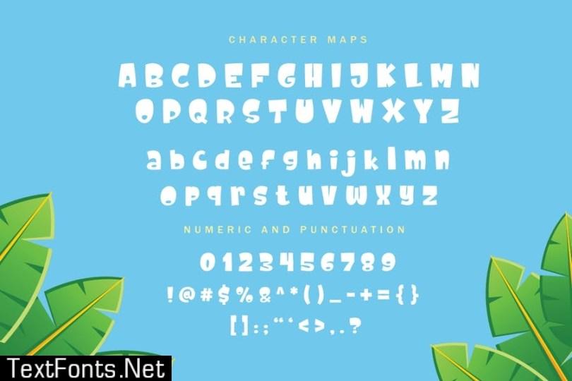 Cute Dolphin - Kids font