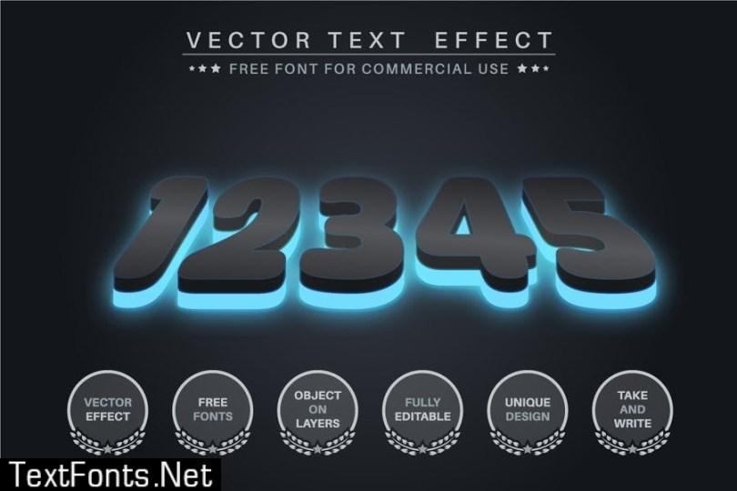 Dark glow - editable text effect, font style JKZ8YE7