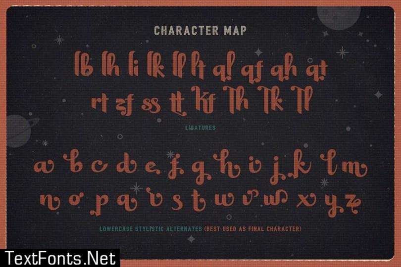 Harson Regular - Intergalactic Typeface