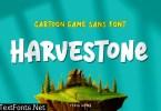 Harvestone - Funny Game Font