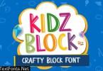 KIDZ BLOCK - crafty block font