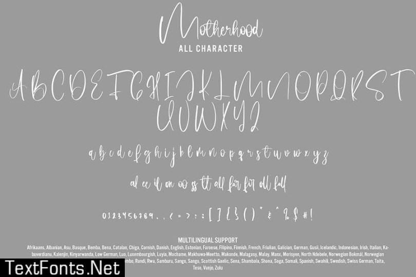 Motherhood - Calligraphy Font
