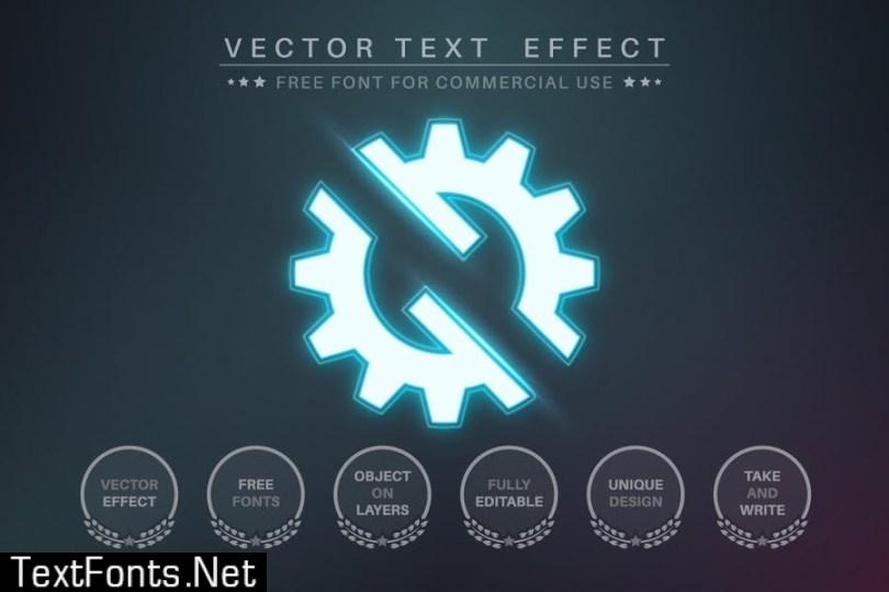 Neon light - editable text effect for illustrator X4PGUTL