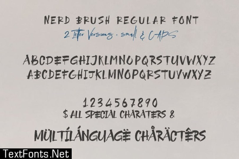 NerdBrush SVG Font