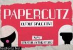 PAPERCUTZ - Cutout Style font