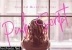 Pink Script Fonh