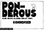 Ponderous Condensed Font