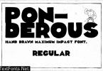 Ponderous Regular Font