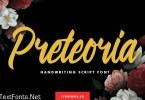 Preteoria Modern Script Font