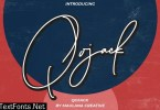 Qojack Signature Brush Font