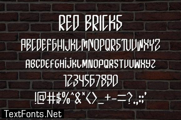 Red Bricks Font
