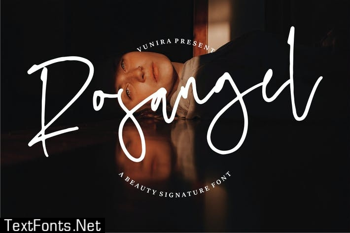 Rosangel | A Beauty Signature Font