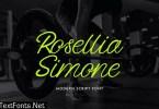 Rosellia Simone Handwritten Font