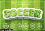 Soccer footbal field - editable text effect SPJFWFV