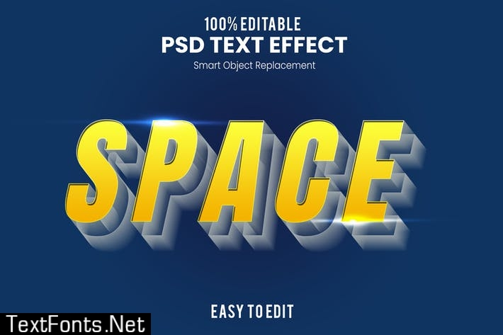 Space 3D Text Effect SVCGSP6