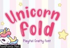 Unicorn Fold - Layered Crafty Font