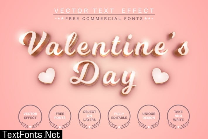 Valentine's day - editable text effect font style UJY9YNJ