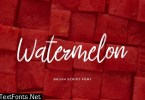 Watermelon Brush Handwritten Font